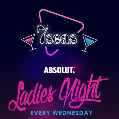 7 Seas Ladies Night event poster