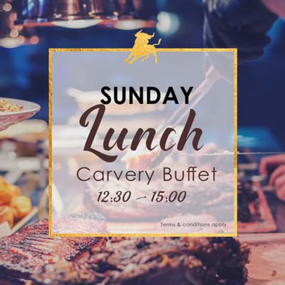 Sunday Lunch Carvery Buffet poster 12:30pm until 3