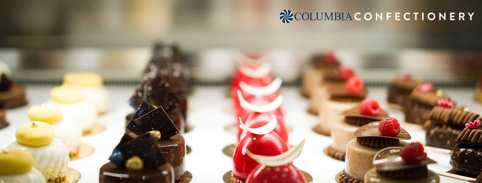 A wide selection of delicious desserts available from Columbia Confectionery